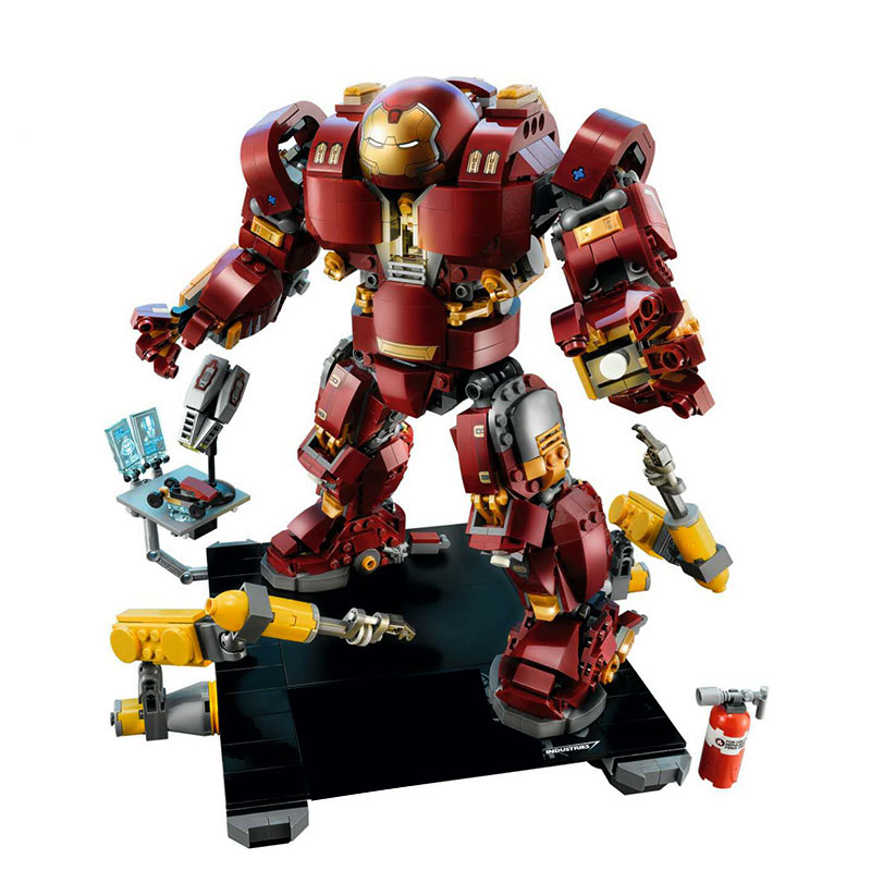 Iron Man Hulkbuster Model Building Blocks Compatible legoing 76105 Bricks Marvel Avengers Infinity War Super Hero Boy Gifts Toys все цены