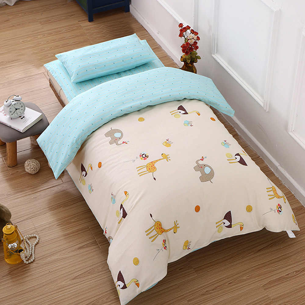 3Pcs/set Cotton Crib Bed Linen Kit Cartoon Baby Bedding Set for Boy Girl Including Pillowcase Bed Sheet Duvet Cover