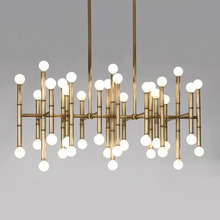 meurice light modern  luxury chandelier lamp gold color Stainless steel bamboo  Auminum chandelier lighting bamboo lamp chandelier modern scandinavian style small fresh