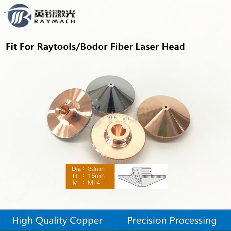 Laser Nozzle Bodor Fiber Laser Spare Parts Dia.32mm Caliber 1.0 - 5.0 RAYTOOLS FIBER Fiber Laser Head Empower Copper Nozzles