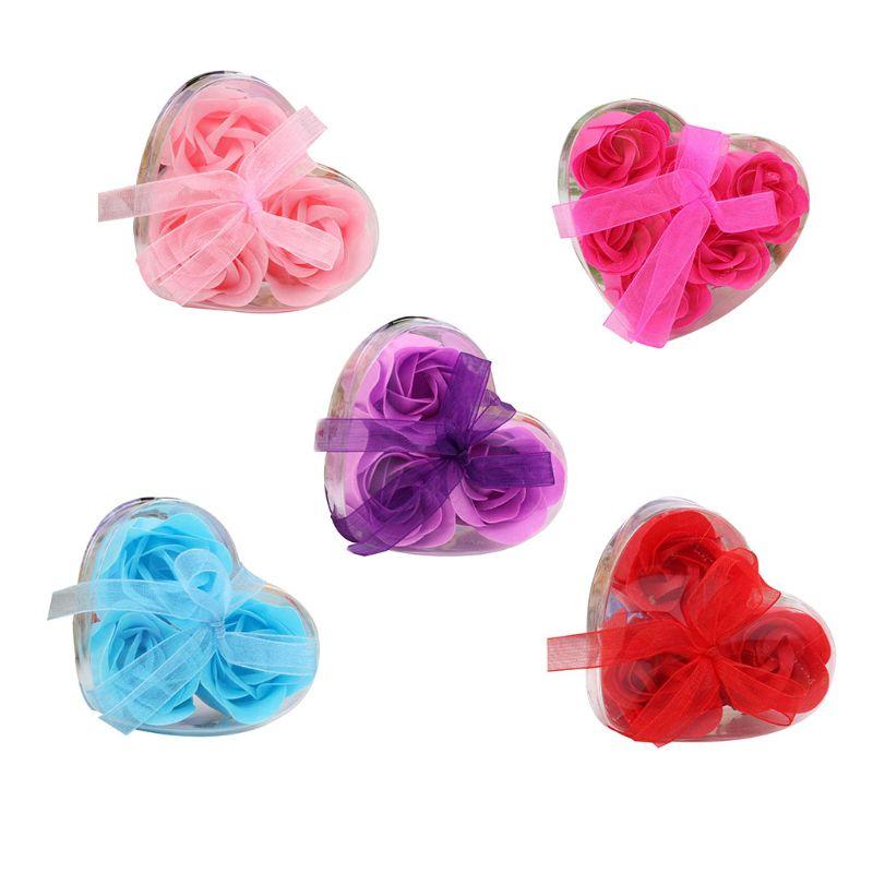 Heart Scented Bath Body Petal Romantic Rose Flower Soap Wedding Decoration Gift