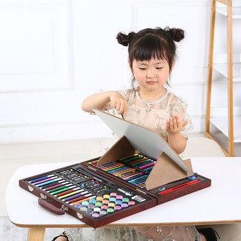120 Stücke Schule Malerei Geschenk Box Mode Graffiti Pinsel Set Kreative Kinder Täglichen Unterhaltung Spielzeug Kunst Sets Mit Staffelei