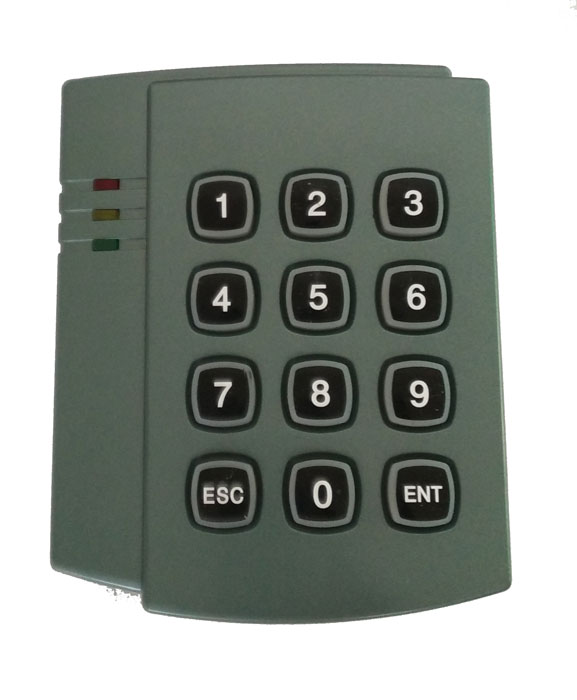 free shipping, proximity Keypad IC card reader with wiegand 26/34 output,suit for Access Control,sn:08F-IC ,min:5pcs usb pos numeric keypad card reader white