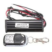 15 Color RGB Auto Car LED Controller Car LED Strobe Flash Light Wireless Remote Control Car Back-up Fog Light Strip Controller