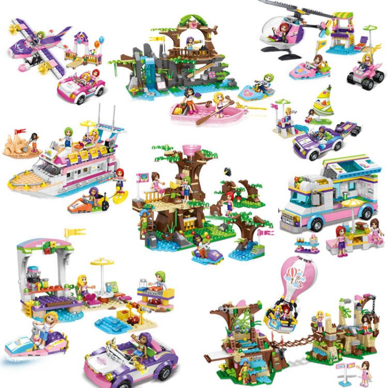 Gift Box Doll Tourist Scene Sweetheart and Princess's Dream Life Building Block (Building & Construction Toys
