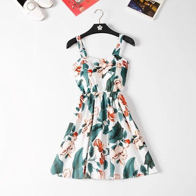 Marwin 2018 New Off shoulder ruffle Dot summer Dress women white strap chiffon beach Boho party sexy dresses vestido furits 1
