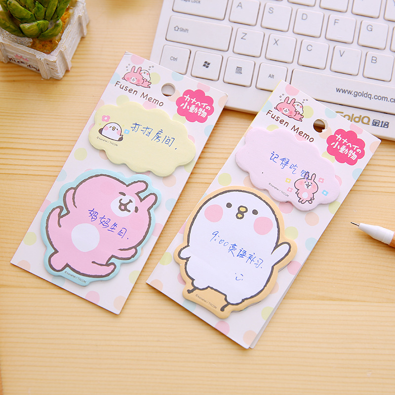 20Pcs/Pack Cartoon Cute Kanahei Sticky Post It N Times Memo Pad Notebook Student Sticky School Label Gift M0281