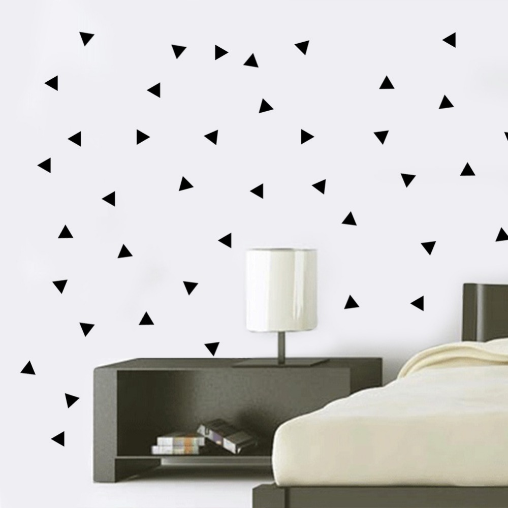 Aliexpress.com : Buy Geometric Triangles Wall Stickers Home Decor Bedroom  DIY Wall Decals Vinyl Stickers For Wall Decoration Pegatinas De Pared 0020  from ...