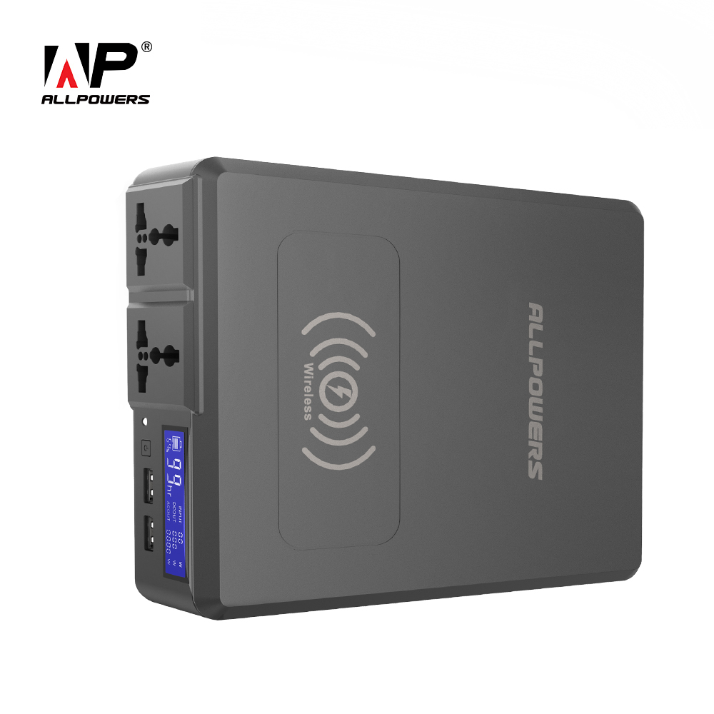 ALLPOWERS Power Bank 154W 41600mAh Super High Capacity External Battery Charger Portable Generator With AC/DC/USB/Wireless Etc.