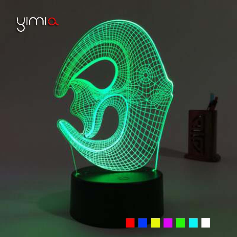 YIMIA 7 Color Change Coral fish 3D Led Night Light Touch Swtich Table Night Lamp Home Decor for Chriden Kids as Gift