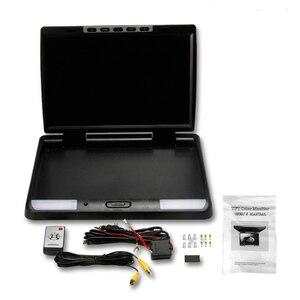 Image 5 - XST 15.4 インチ HD 1080P ビデオ車屋根フリップダウン天井マウントモニター MP5 プレーヤーサポート USB SD カード sperker IR FM トランスミッタ