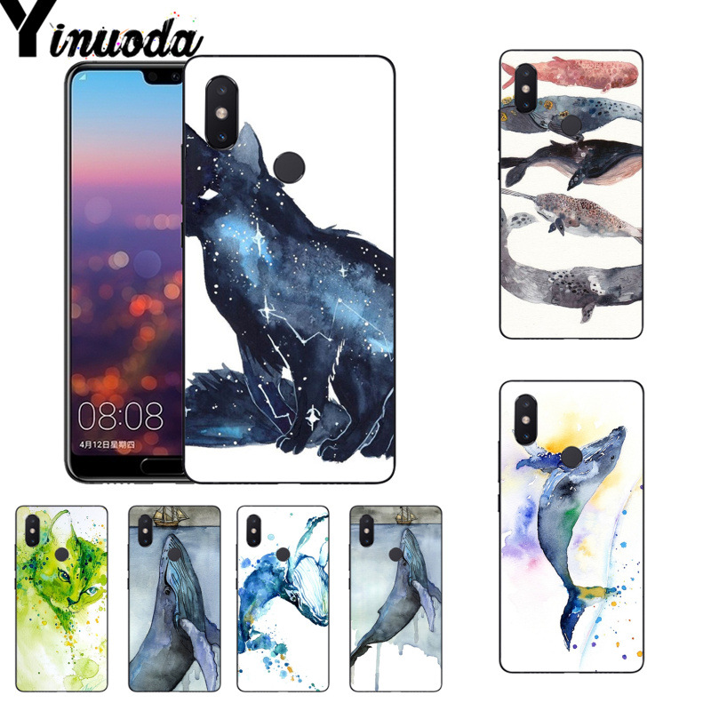 Yinuoda Cat Astronaut Dog Space Moon Tpu Soft Phone Case For Xiaomi Mi 6 Mix2 Mix2s Note3 8 8se Redmi 5 5plus Note4 4x Note5 Moderate Price Half-wrapped Case