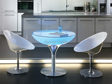 A Uniquely Designed Table Led Illuminated Furniture,Lounge LED,led coffee table rechargeable for Bars,Christmas and events d60 h20 cm colorful led illuminated furniture lounge variation led led coffee table rechargeable for bars events and christmas