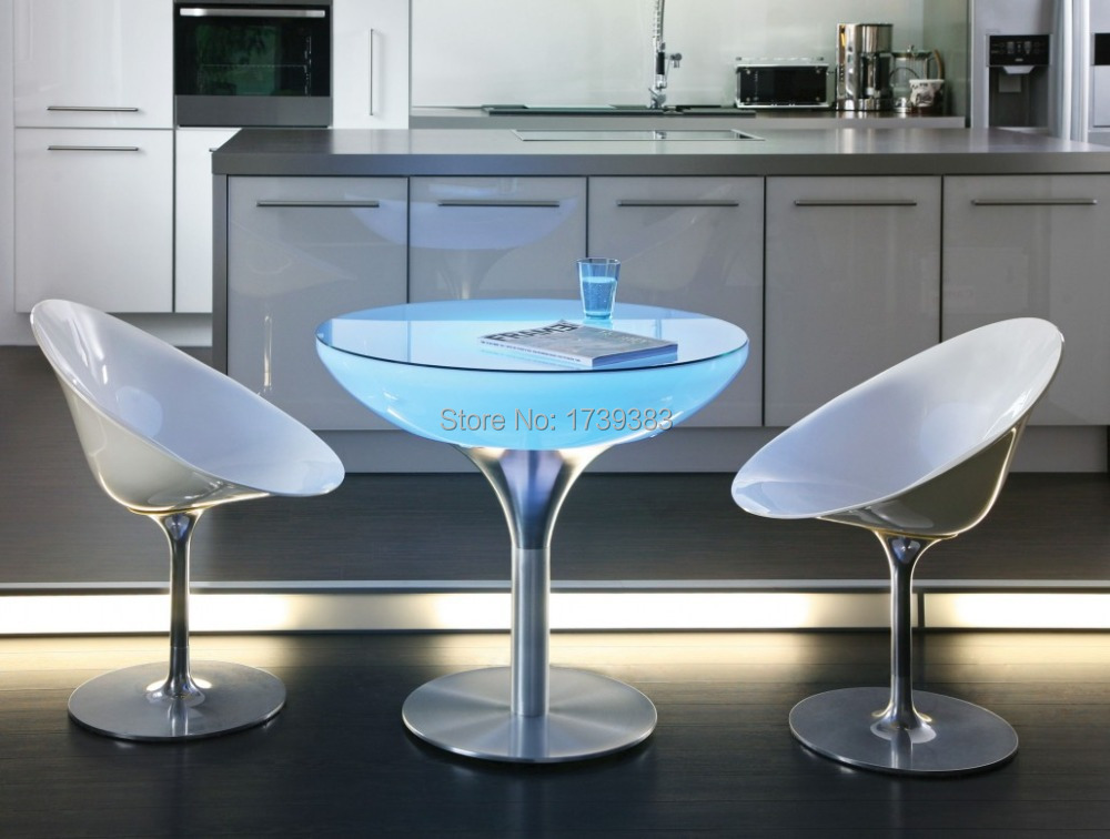 D60*H56 A Uniquely Designed Table Led Illuminated Furniture,Lounge LED,led coffee table rechargeable for Bars,Christmas,events