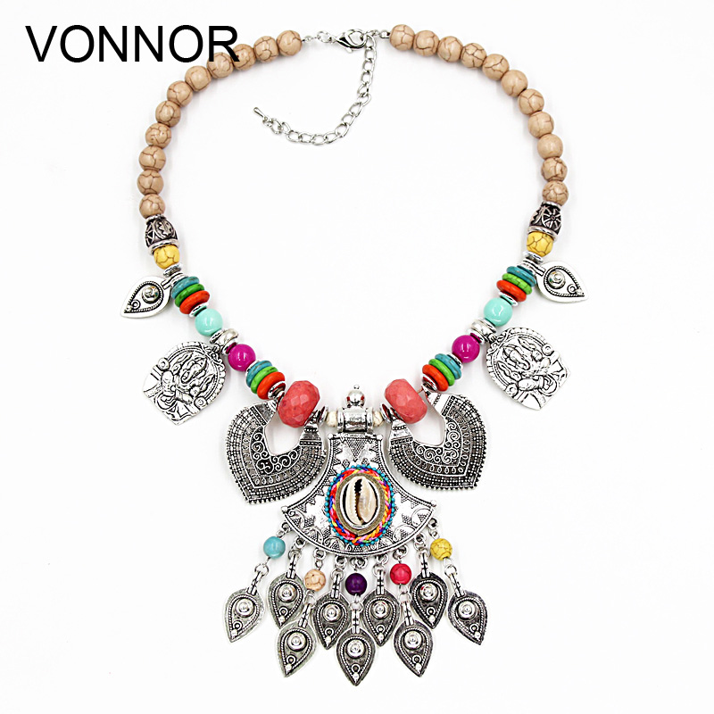 VONNOR Necklace Jewelry Women Statement Necklaces & Pendants Bohemian Female Accessorie Alloy Shells Necklaces Gift Dropshipping