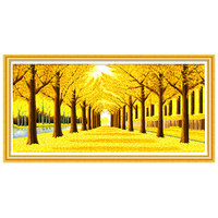 DIY Yellow tree diamond painting Yellow tree full round diamond embroidery sale for diamond mosaic crafts christmas gift