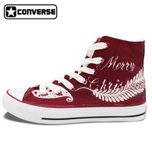 Merry Christmas Women Men Converse All Star Design Custom Hand Painted Canvas Sneakers Christmas Gifts