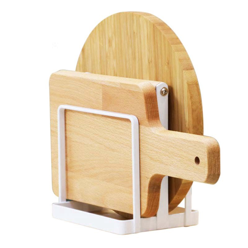 Cutting Board Holder Knife Block Tools Organizer Kitchen Storage Rack Metal Dish Rack Cutting Boards Stand Kitchen Organizer