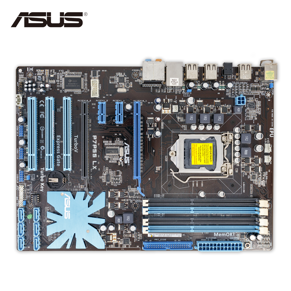 Asus P7P55 LX Desktop Motherboard P55 Socket LGA 1156 i3 i5 i7 DDR3 16G ATX On Sale Second-hand High Quality защита ног adidas щитки adidas ghost lite bs1473