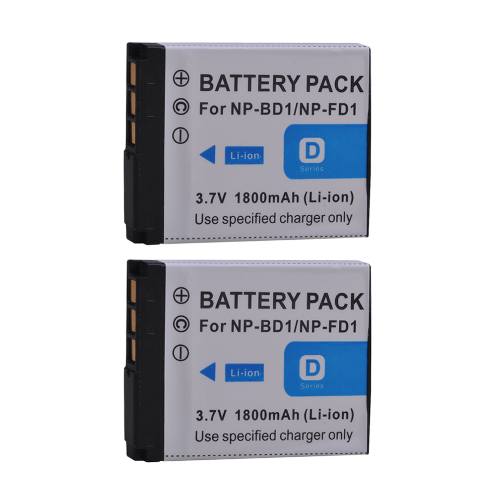 2pcs Np-fd1 Np-fd1 Np Fd1 Bd1 Npfd1 For Sony Cybershot Dsc-t2 T100 Dsc-t70 Dsc-t75 Dsc-t77 Dsc-t200 T300 T500 Dsc-t700 T90 T900 Fixing Prices According To Quality Of Products