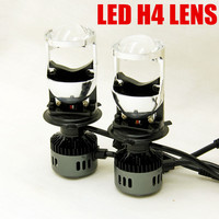 Dianshi 2pcs H4 LED Conversion Kit Bulb Light H4 LENS projector Lamp Hi/Lo Beam 6000k LED