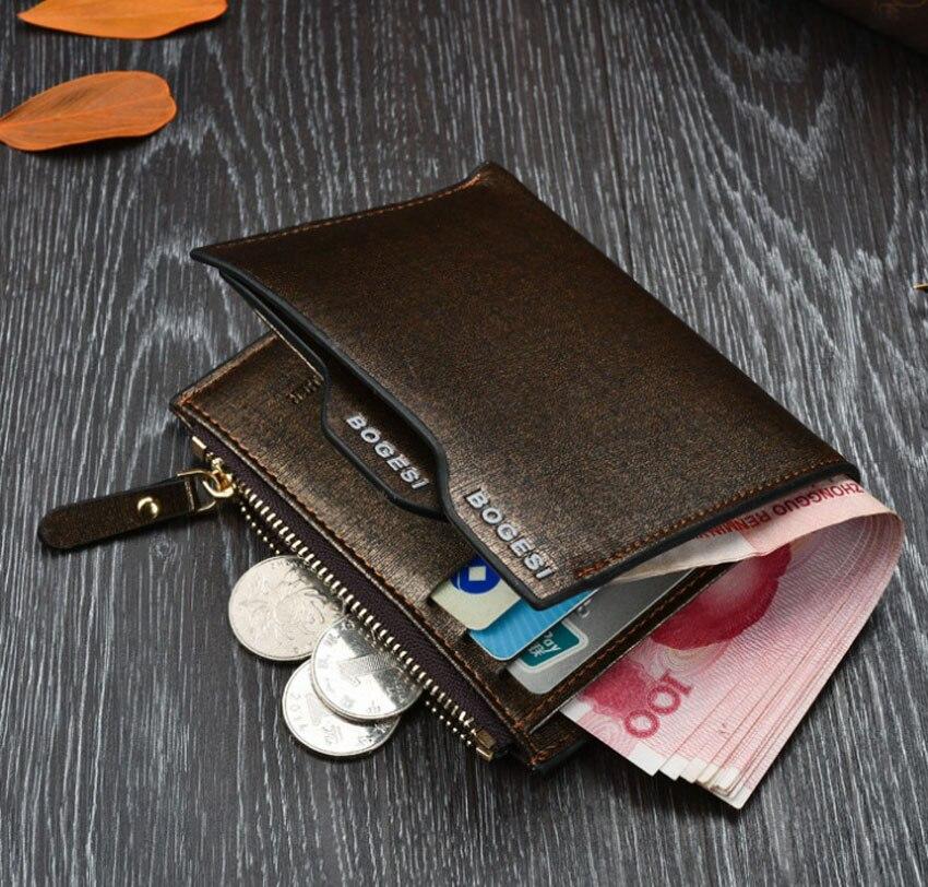 designer 2018 gentleman fashion small mini mens Short wallets Business Money Clips pu Leather purse hand brand Wallets gold blue