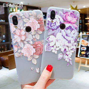 Image 4 - Soft TPU Phone Cases For Xiaomi 9 Case For Xiaomi Mi5S Mi5X Mi6 Mi6X Mi8 8SE 8Lite Relief Floral Phone Covers For Pocophone F1