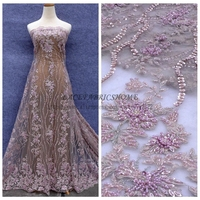 New Fashion Style Nude And Other 4 Colours Handmade Heavy Beaded Wedding Dress Evening Show Dress