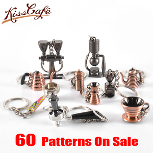 Image 1 - Espresso Coffee Accessories Coffee keychain moka pot/syphon/kettle/grinder/tamper/milk jug/portafilter style coffee keyring gift