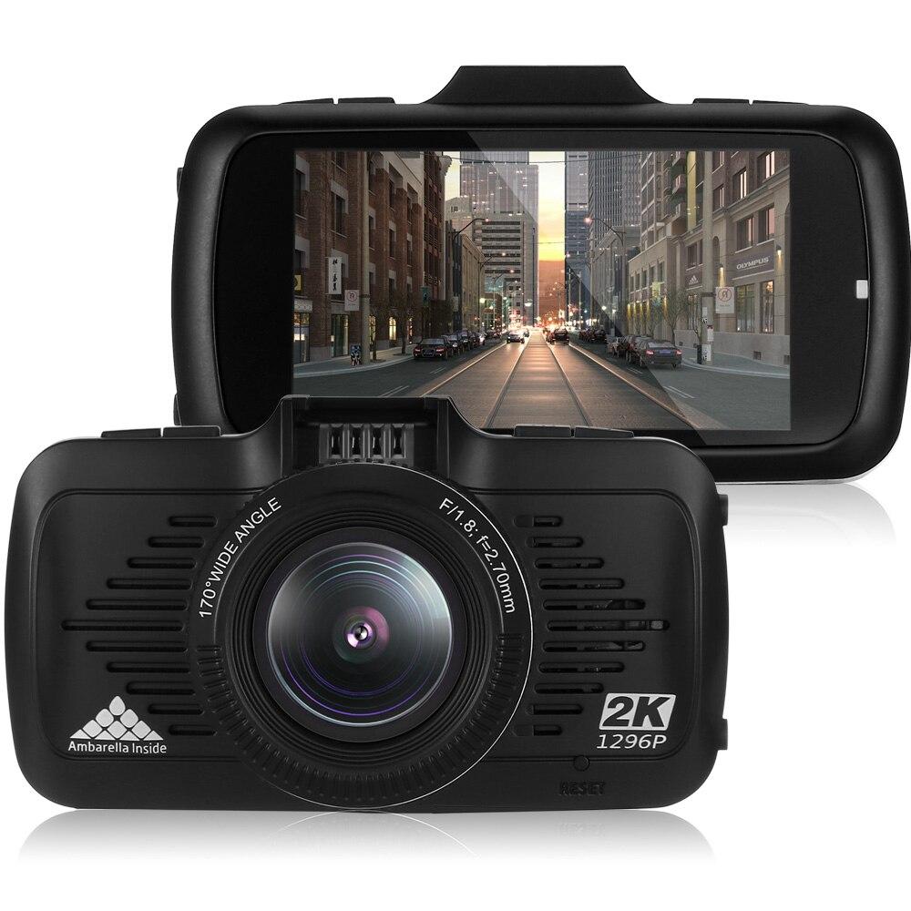 New Ambarella 2.7 Car DVR GPS LDWS WDR Driving Record 170 Degree Hidden Dash Cam Night Vision 1296P Camera Registrator Russian
