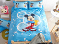 100% Cotton bed linen mickey and kids mouse bedding sets blue princess duvet cover set queen/twin size bedspread