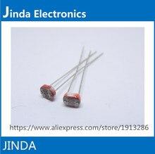 JINDA 1000 шт. Фоторезистор GL5539 LDR Фотография Резисторы фоторезистор 5 ММ Фотоэлектрический датчик Компонент 5539 Сопротивление 1 орд