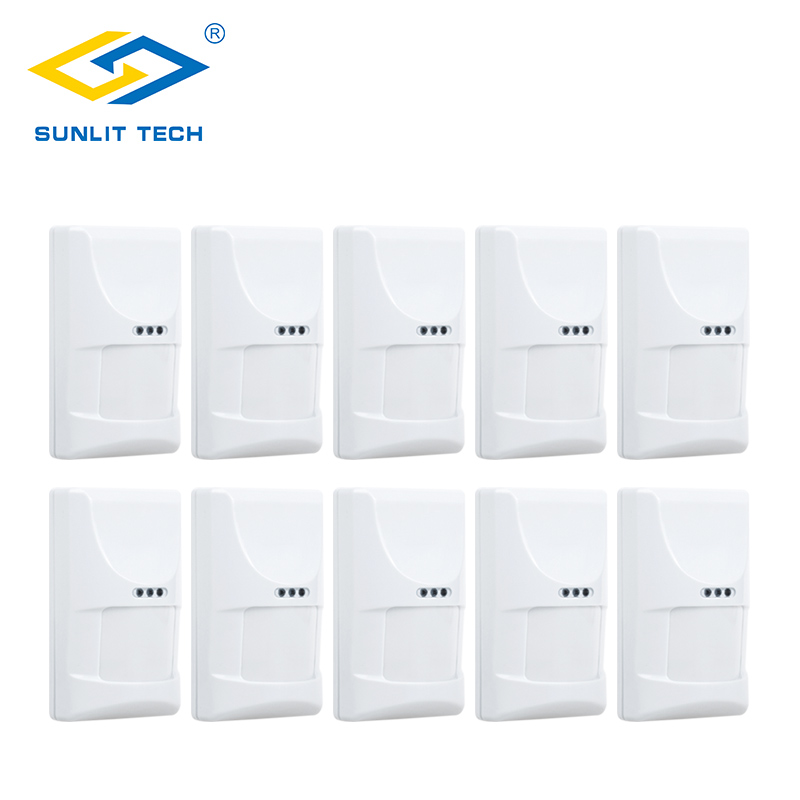 10pcs/Lot Wired Pet PIR Sensor Indoor Infrared Motion Detector Pet Immune sensor alarma for Home Burglar Security Alarm System 2pcs lot wired indoor usage pet friend passive infrared motion sensor for wired burglar alarm system free shipping