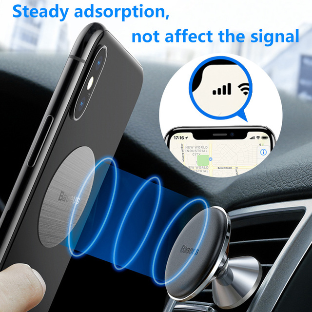 Baseus Magnetic Car Phone Holder for iPhone 11 Auto Air Vent Mount Mobile Phone Holder Stand for Samsung Note Car Bracket 4