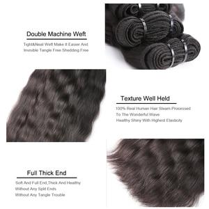 Image 5 - Missblue 生インドのバージンヘアバンドルグレード 10A インディアンナチュラルストレート人間の毛髪織り延長 1 3 4 10p/送料無料