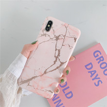 Gold Pink White and black Mobile phone Marble cover fundas For Apple iPhone XR XS MAX 8 6 6s plus X  7 marble cases