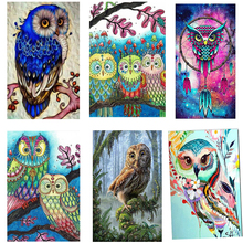 New diamond painting animals owl 5D Full diamond painting owl Cartoon Animals Owl Diamond embroidery Home decoration gif bowknot owl print draw diamond drawing