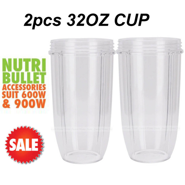 2 pcs colossal big large cup 32 oz replacement parts for nutri bullet 600w u0026 900w