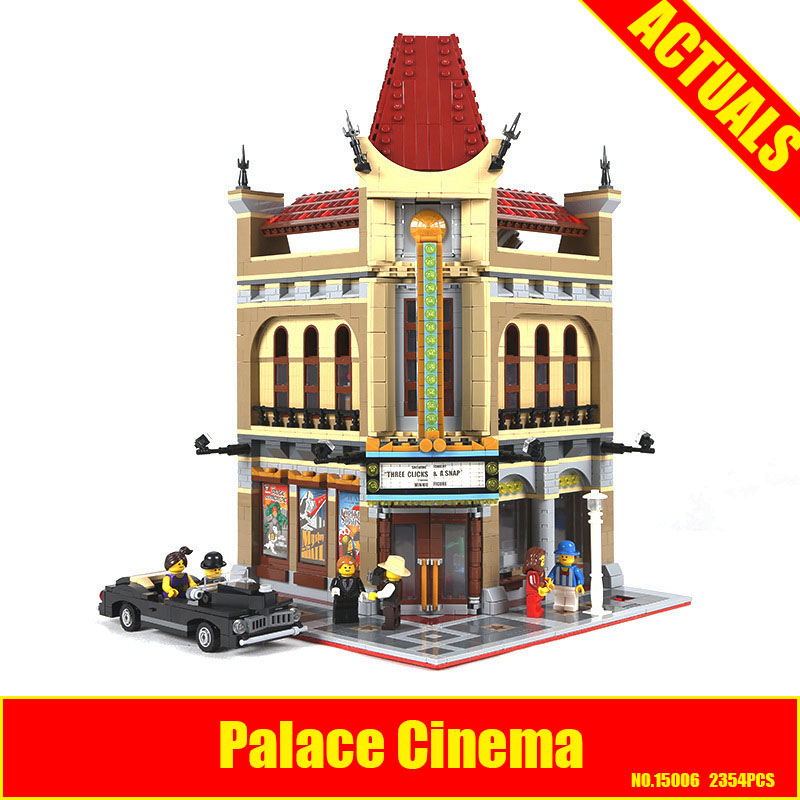 New LEPIN 15006 2354pcs Palace Cinema Model Building Blocks set Bricks Toys Compatible with 10232 Educational Children days Gift lepin 22001 pirate ship imperial warships model building block briks toys gift 1717pcs compatible legoed 10210