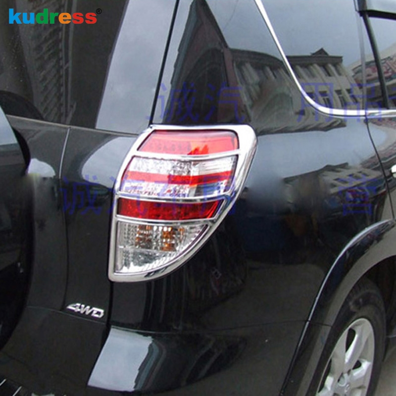 For Toyota RAV4 <font><b>RAV</b></font> <font><b>4</b></font> 2009 2010 <font><b>2011</b></font> ABS Chrome Tail Light Protector Rear Lamp Taillight Lamp Shade Frame Light Cover Trim image