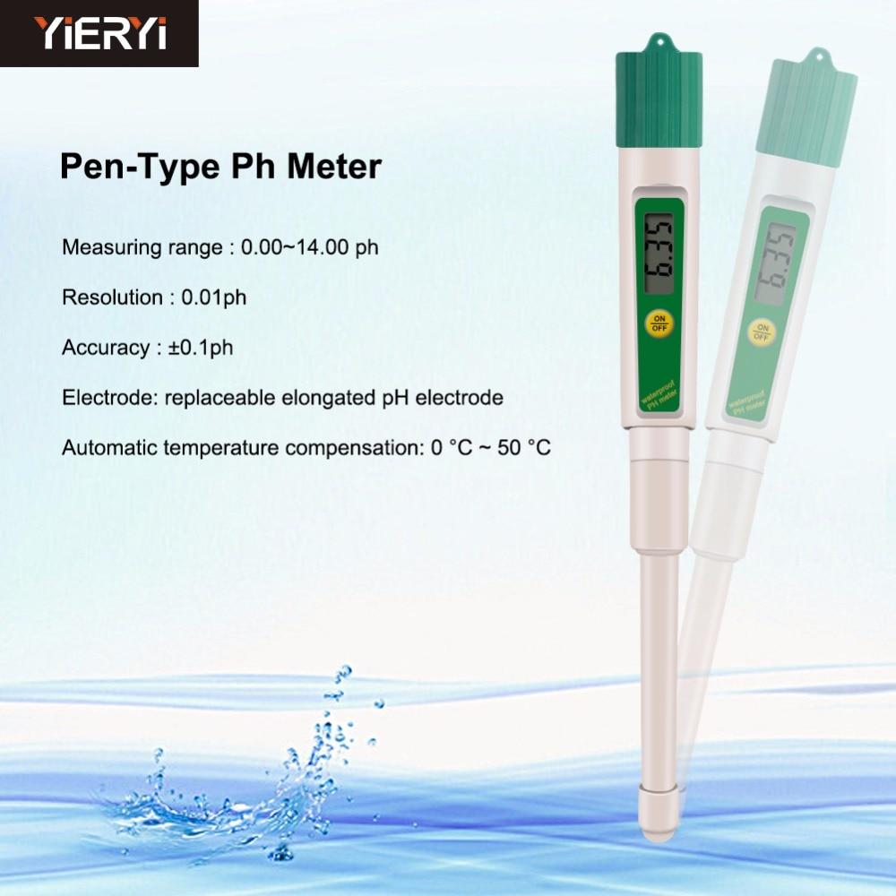 yieryi PH(03)II L Design Digital LCD PH Meters Soil Aquarium Safe Pool Water Wine Urine Tester Analyzer ph 03 ii c for cheese