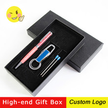 1set Crystal Colorful Metal Ballpoint Pens Creative Advertising Rotating Pen Stationery Gift Pen With Gift Box Laser Custom LOGO creative carbon fiber rod rotating metal ballpoint pen gift box case crystal ballpoint pen metal pen stationery