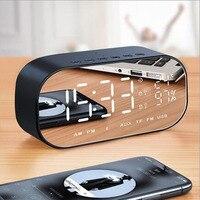 N Trendy Style Portable Wireless Bluetooth Speakers LED Alarms Clock Radio Digital Display Home Car Bass Speaker MA2918