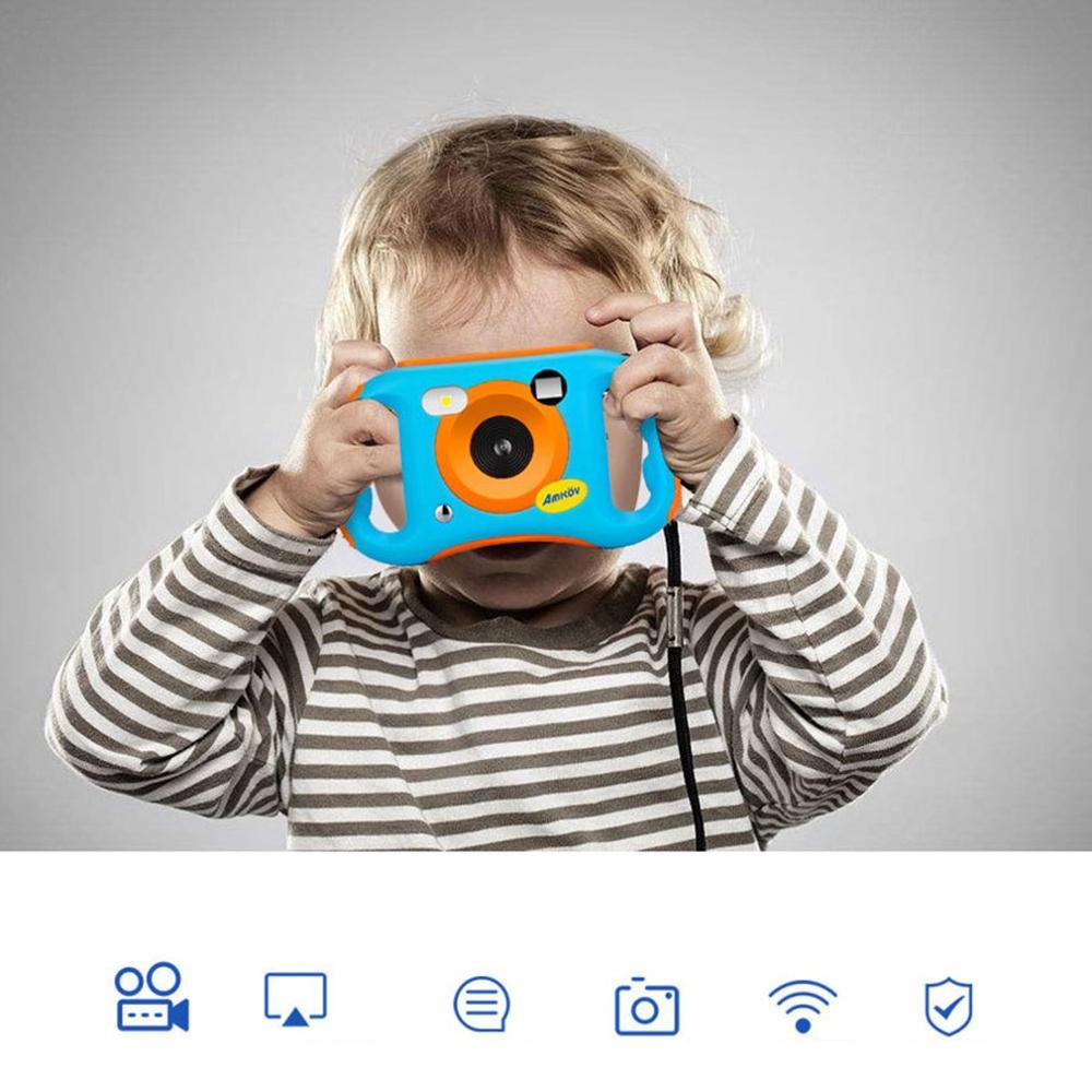 SJ06W Children Kids Digital Video Camera DV Cartoon Stickers Christmas New Year Birthday Festival Gift for Children|Point & Shoot Cameras|Consumer Electronics - title=