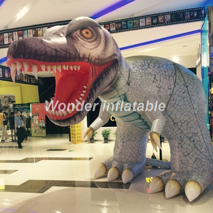 Customized Vivid Outdoor 3mH Giant Inflatable Dinosaur Model Inflatable  Animal Replica For Advertising
