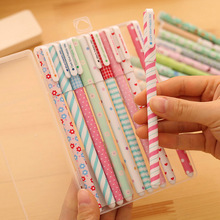 10PCS/LOT GENKKY Korean Stationery Stationery Watercolor Pen Gel Pens Set Color Kandelia