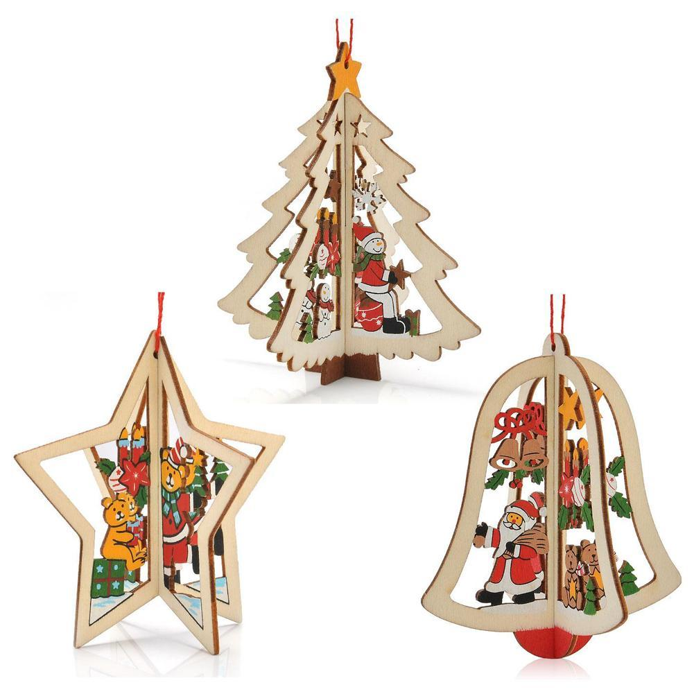 Online Get Cheap Wooden Christmas Ornaments -Aliexpress