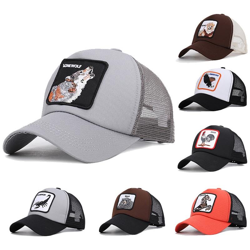 Aminals   Baseball     Cap   Men Women Mesh Hat Breathable Trucker Hat Summer Outdoor Sports   Caps   17 Choose