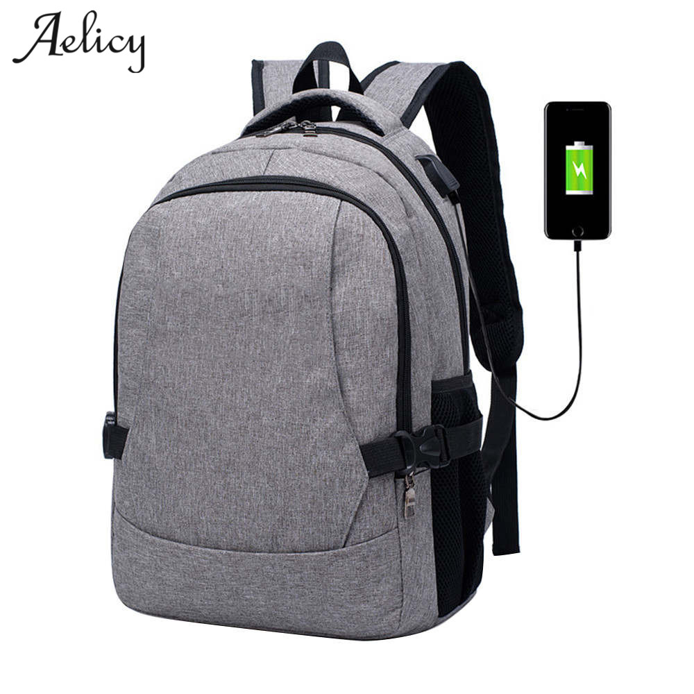 Aelicy Business Slim Laptop Backpack Anti-Theft Water Resistant Computer with USB Charging Port Lightweight Travel Bag slim xl backpack