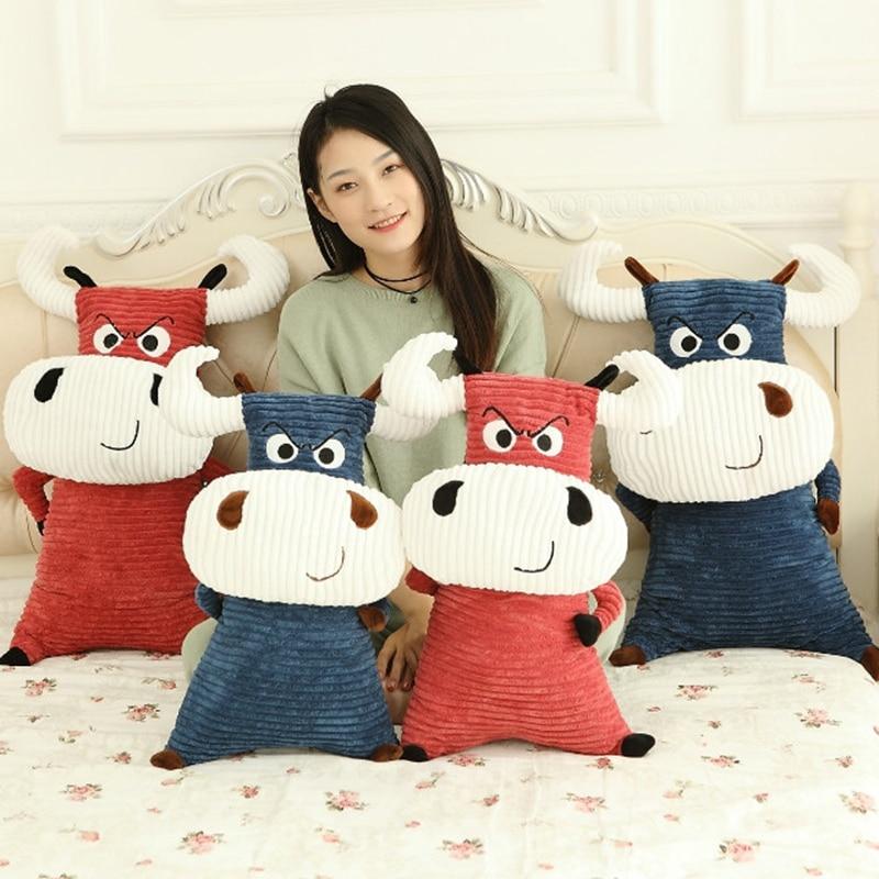 Kawaii cattle plush toy pillow Cushion/Pillow Cow plush stuffed animal pillow Boys and girls birthday gift